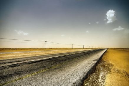 """Desert Road"" by Walid Mahfoudh is licensed under CC BY-NC 2.0"